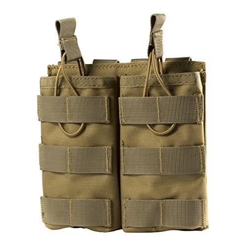 One Tigris Tactical MOLLE دو جیب مجلسی با باز کردن بالا برای مجلات AR M4 M16 HK416