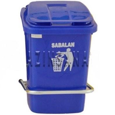 تصویر سطل زباله 40 لیتری با پدال فلزی
