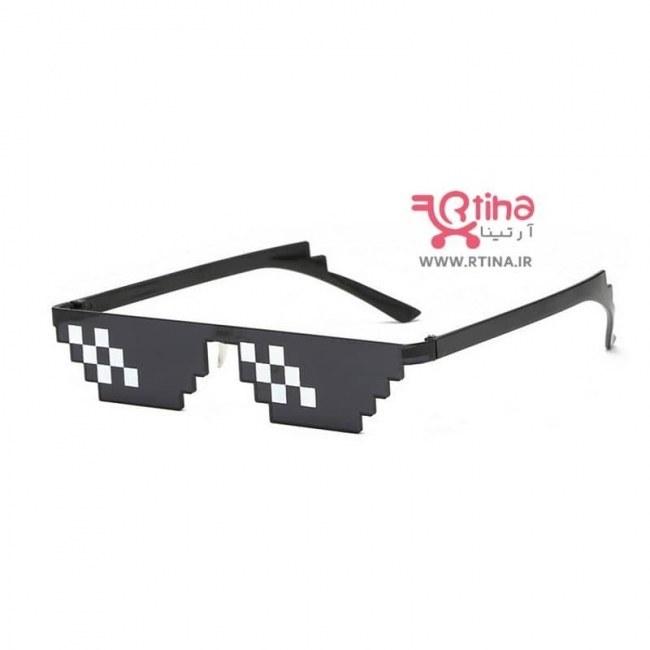 تصویر عینک آفتابی PIXEL طرح موزائیکی (Thug life) کلاسیک