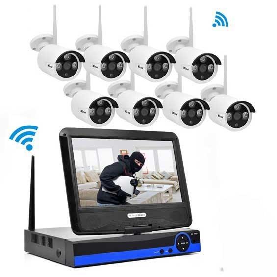 تصویر پکیج ۸ کانال دوربین وای فای مانیتوردار HD ا 8CH Wifi NVR Kit LCD HD Wireless IPC Build-in 10.1inch 8CH Wifi NVR Kit LCD HD Wireless IPC Build-in 10.1inch