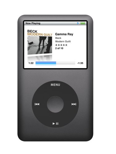 | Apple iPod classic 120 GB Black 6th Generation (Discontinued by Manufacturer)