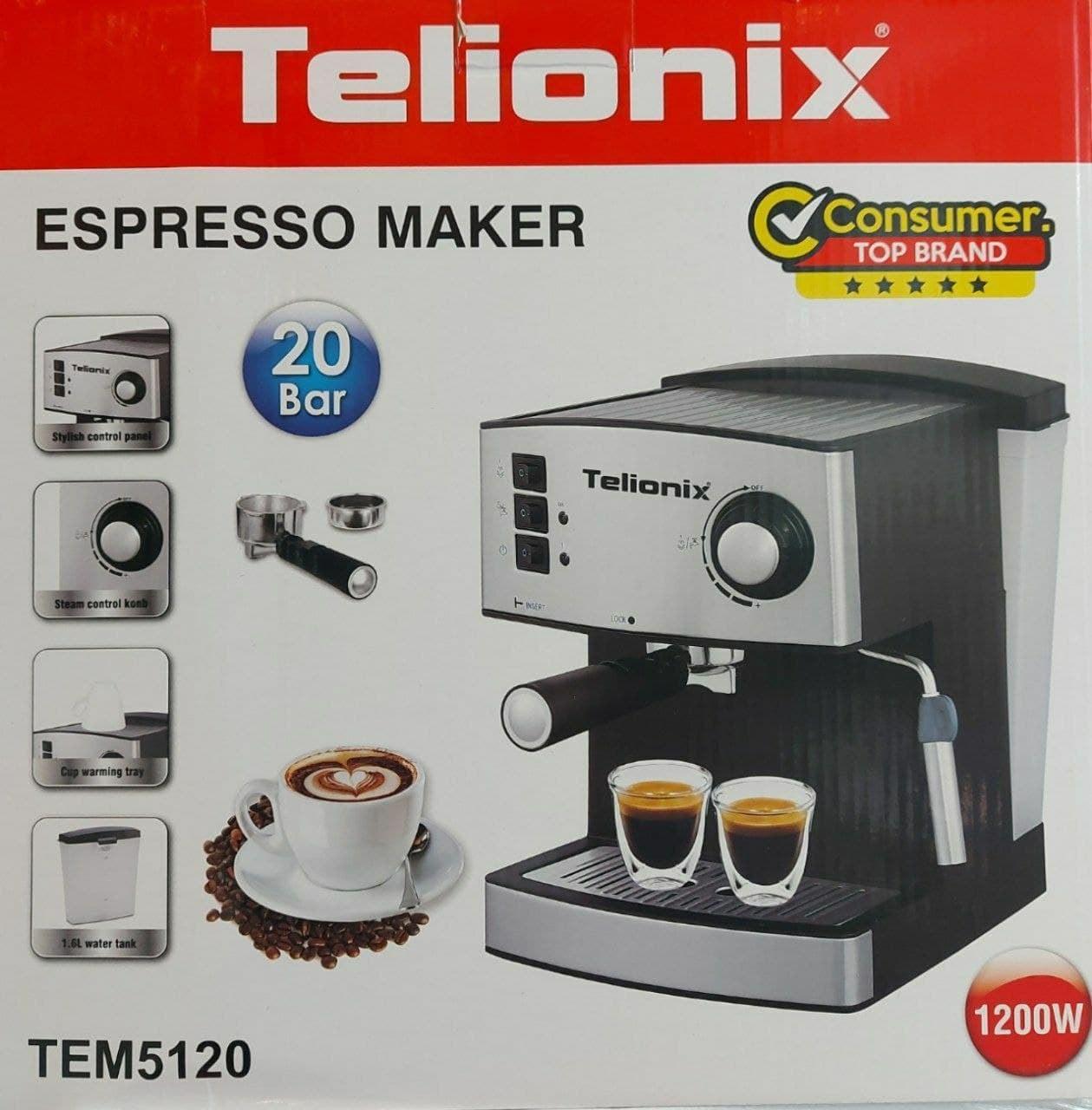 تصویر اسپرسو 20 بار Telionix