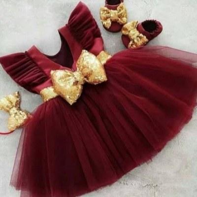 تصویر لباس مجلسی دخترانه