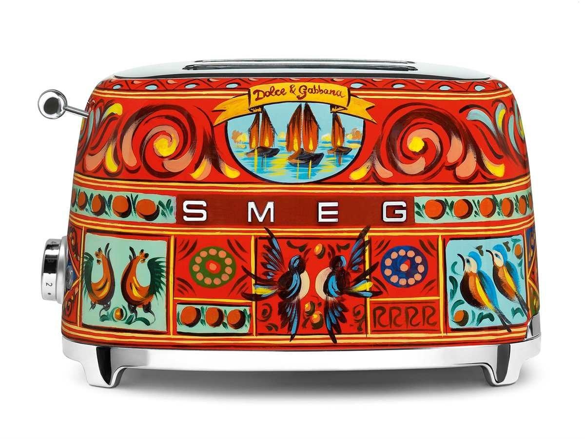 main images توستر اسمگ دولچه اند گابانا ایتالیا Smeg TSF01PGEU 2-Scheiben-Toaster Dolce Gabbana