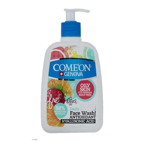 تصویر ژل شستشوی صورت کامان مخصوص پوست های چرب حجم 500 میل Comeon Face Wash For Oily Skin 500 ml