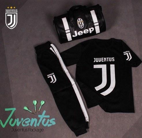 پکیج ست تیشرت و شلوار و ساک ورزشی Juventus |