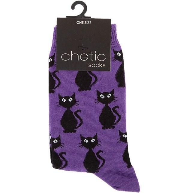 جوراب زنانه ساق بلند چتیک Chetic طرح گربه