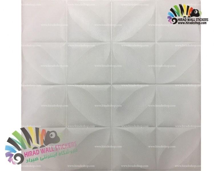 دیوار پوش فومی پشت چسبدار طرح 4 پر کد FT-White