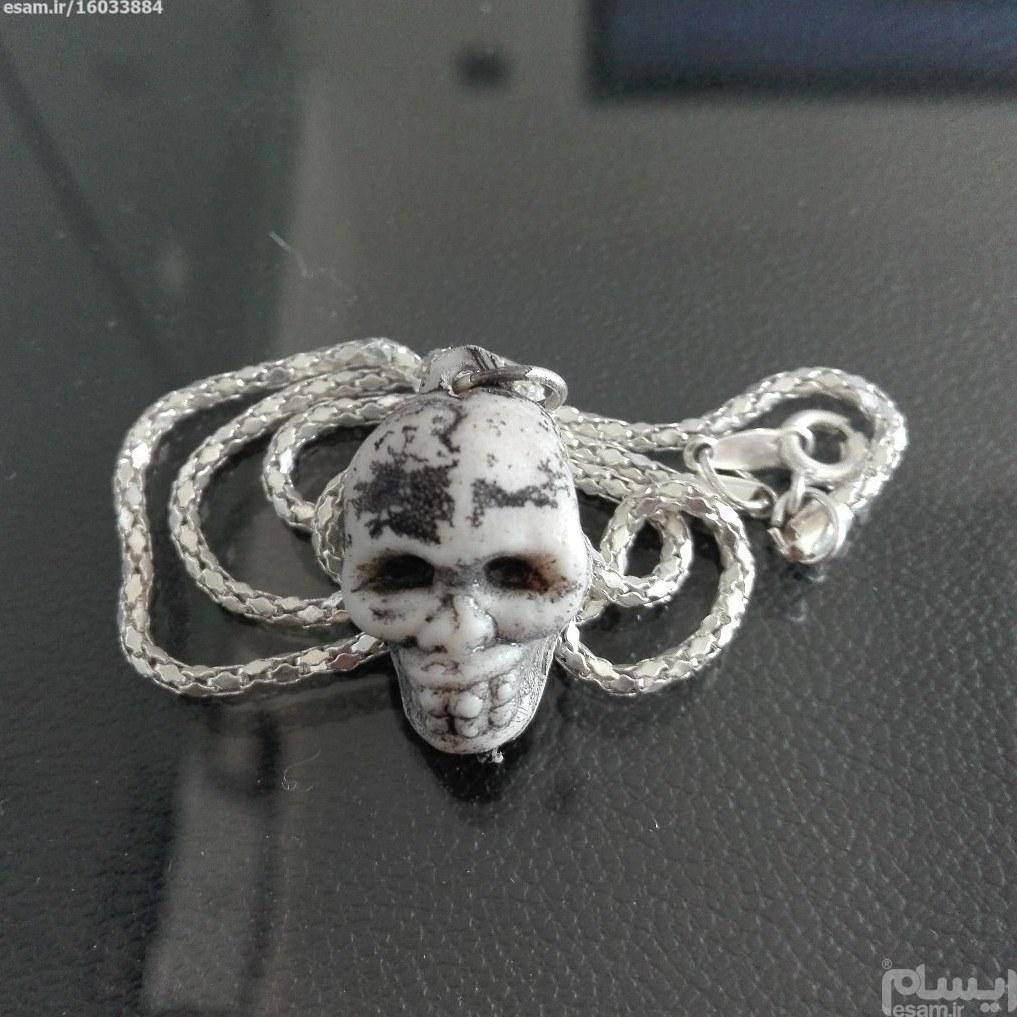 گردنبند و آویز | گردنبند و آویز جمجمه به همراه زنجیر