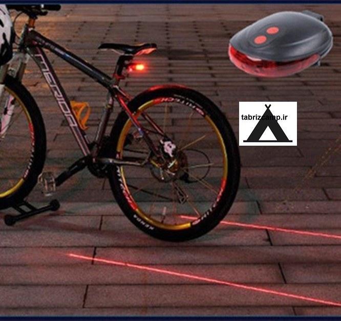چراغ دوچرخه لیزر دار   چراغ دوچرخه لیزر دار