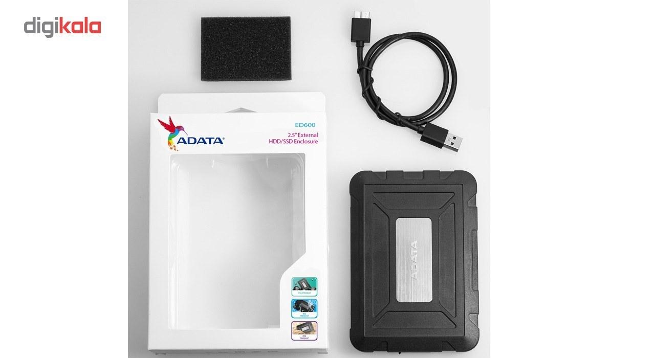 img قاب اکسترنال ای دیتا مدل ED600 مناسب برای هارد دیسک و حافظه اس اس دی 2.5 اینچی ADATA ED600 Enclosure For 2.5 Inch HDD and SSD