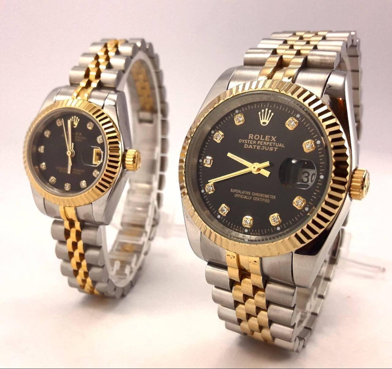 ست ساعت زنانه مردانه رولکس Rolex Datejust کد 313