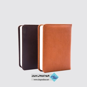 تصویر دفترچه یادداشت چرم تبلیغاتی مدل d2070-1 یادداشت چرم مربعی تبلیغاتی