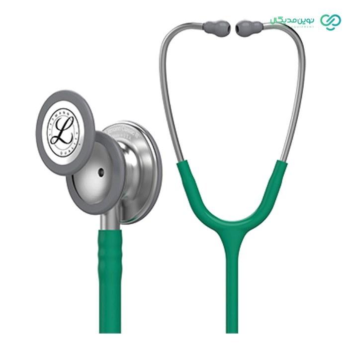 تصویر گوشی لیتمن کلاسیک 3 زمردی مدل Littmann classic III emerald green 5840 Stethoscope اصل