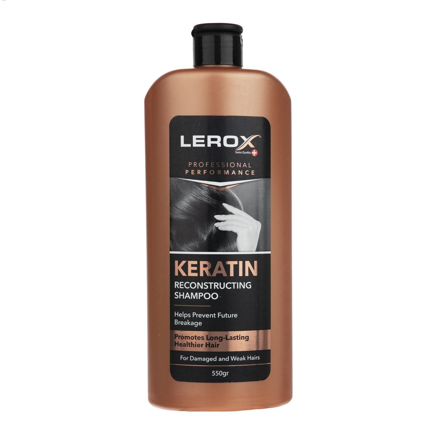 شامپو مو لروکس مدل Keratin حجم 550 گرم