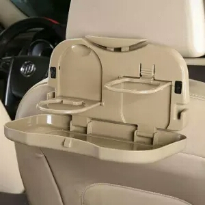 تصویر سینی غذا و جا لیوانی ماشین