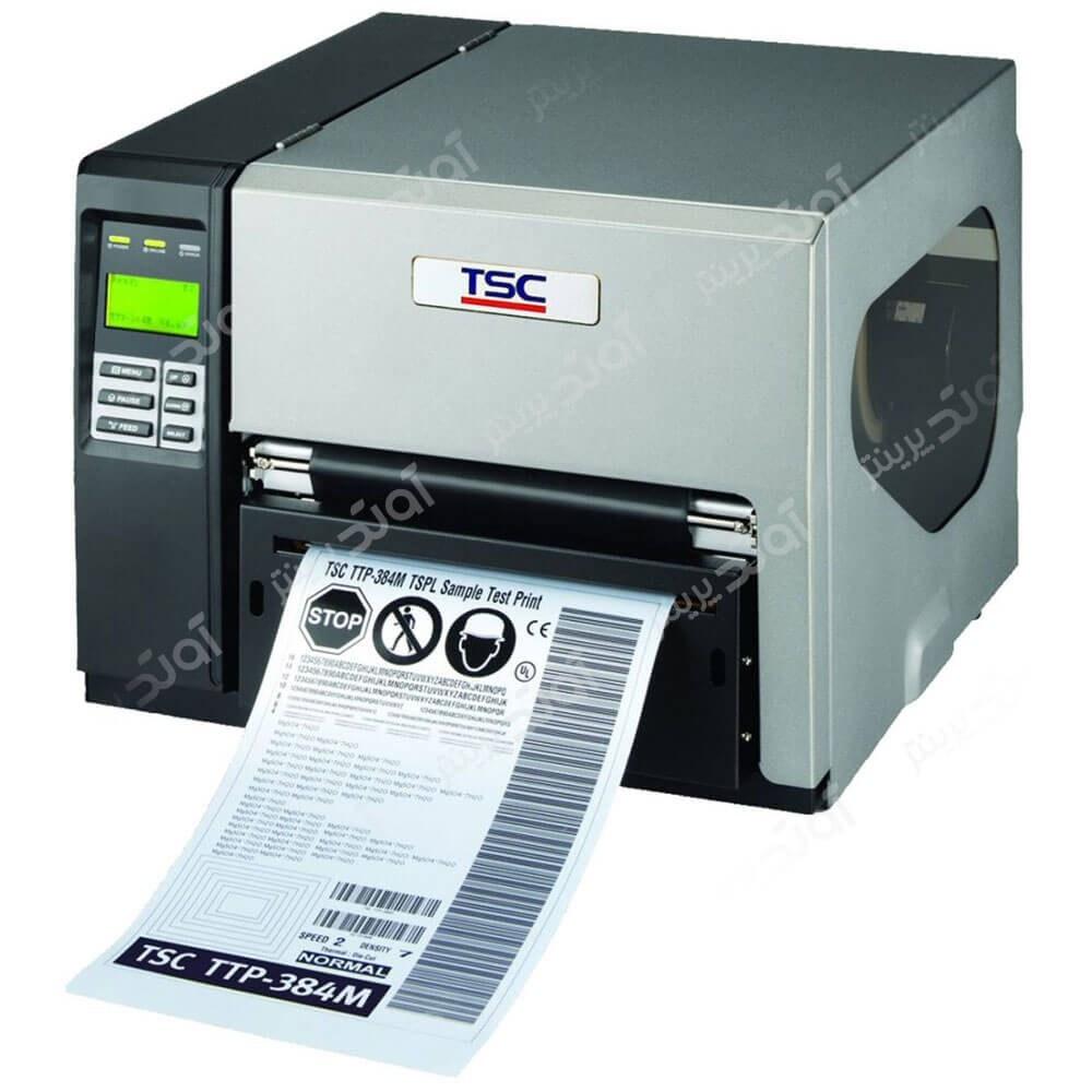 تصویر چاپگر لیبل و بارکد صنعتی تی اس سی TSC TTP 384M