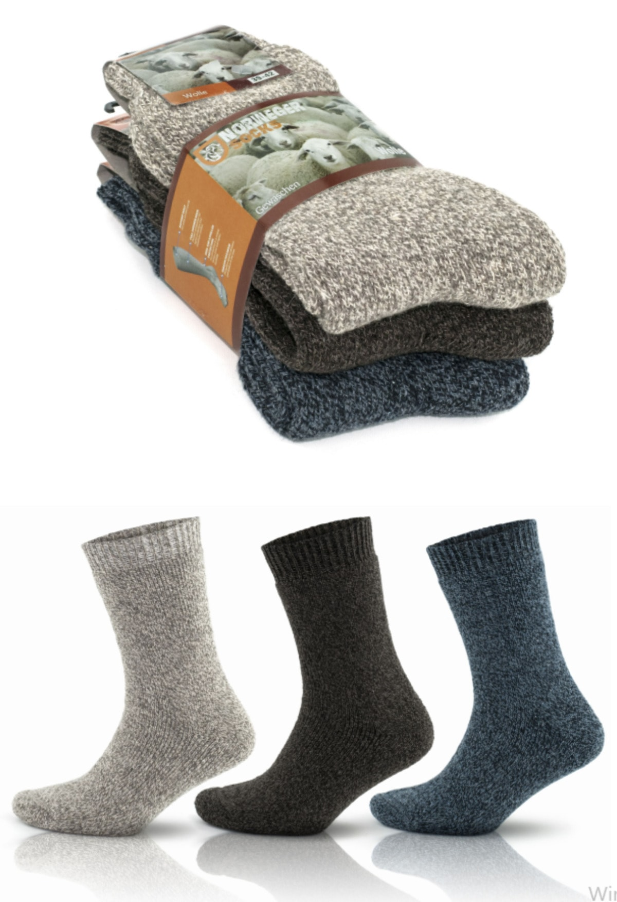 جوراب زمستانی زنانه حرارتی 3ست برند socksbox کد 1610186882