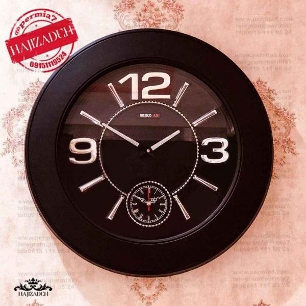 ××× ثانیه سازان ساعت دیواری سیکو ای اس مشکی  AS-BLACK