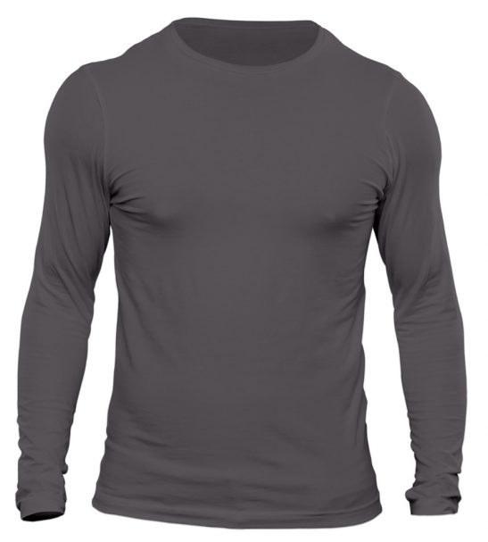 تیشرت آستین بلند مردانه رنگ نوک مدادی