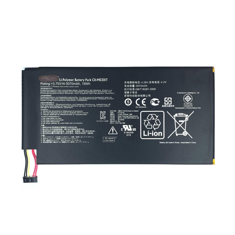 تصویر باتری تبلت ایسوس Asus Memo Pad Smart K001 با کد فنی C11-ME301T