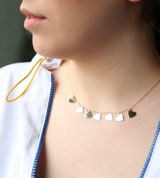 گردنبند طلا 18 عیار طرح عشق |