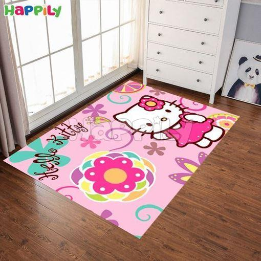 تصویر فرش اتاق کودک طرح هلو کیتی 50210