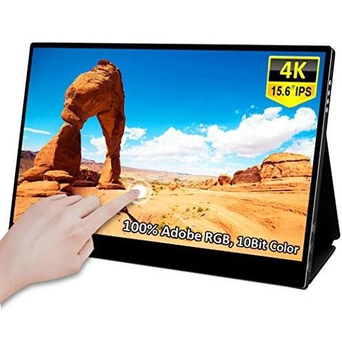 صفحه نمایش لمسی قابل حمل 4k لمسی 15.6 inch 15 اینچی صفحه نمایش لپ تاپ Uhd On-The-Go دو صفحه نمایش 10 , Bit / HDR 400 / Adobe100٪ ، مانیتور بازی های مراقبت از چشم با Mini-Type Type-C MiniMI برای رایانه های کوچک رایانه ای ، PS4 ، نینتندو ، مک ، ایکس باکس