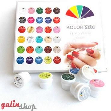 پک 30 عددی ژل لاک یووی کاسه ای کالر پرو Kolor Pro UV-LED |