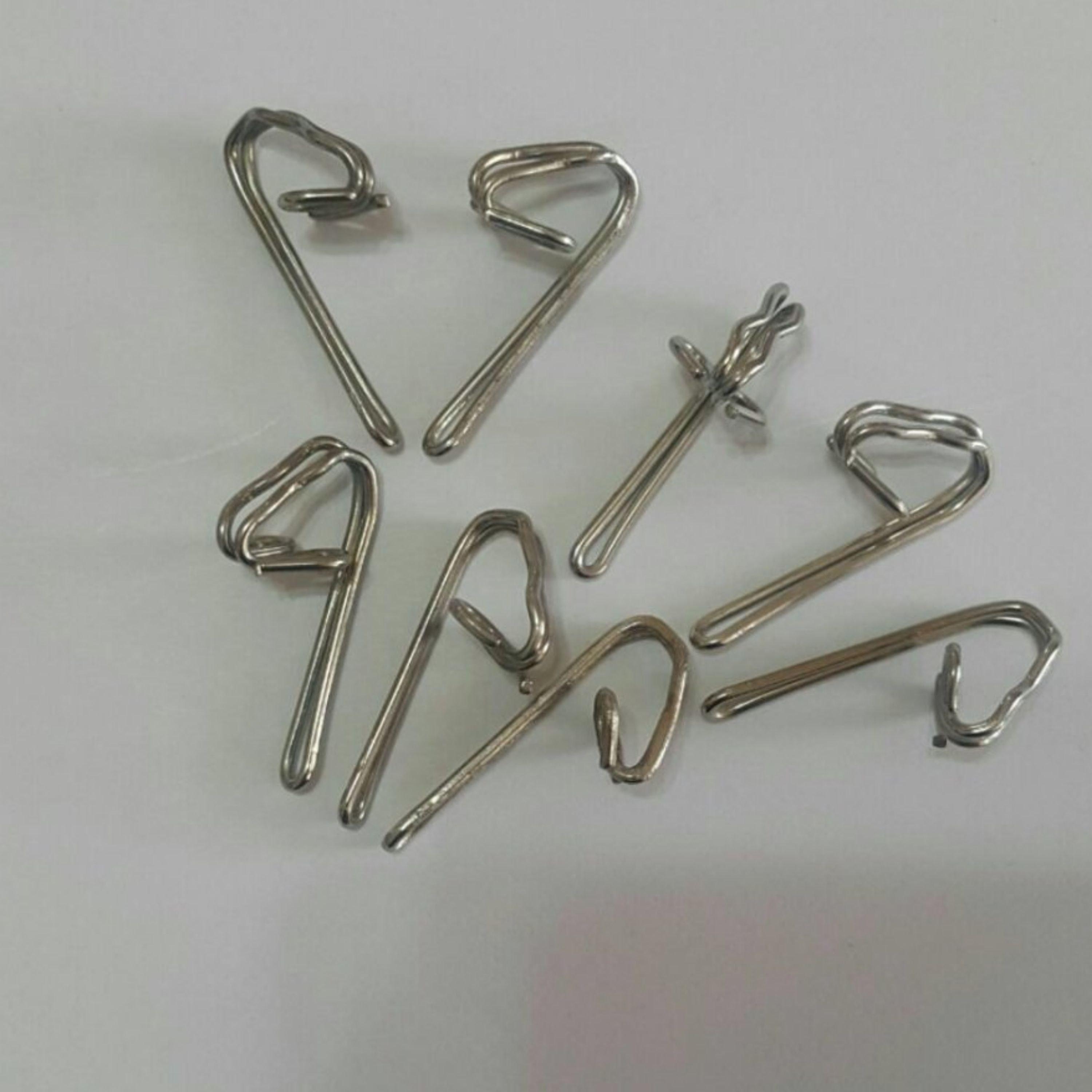 تصویر گیره پرده هوکس فلزی (100 عددی)