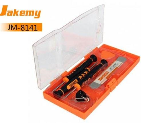 مجموعه ابزار 6 کاره تعمیرات موبایل Jakemy JM8141