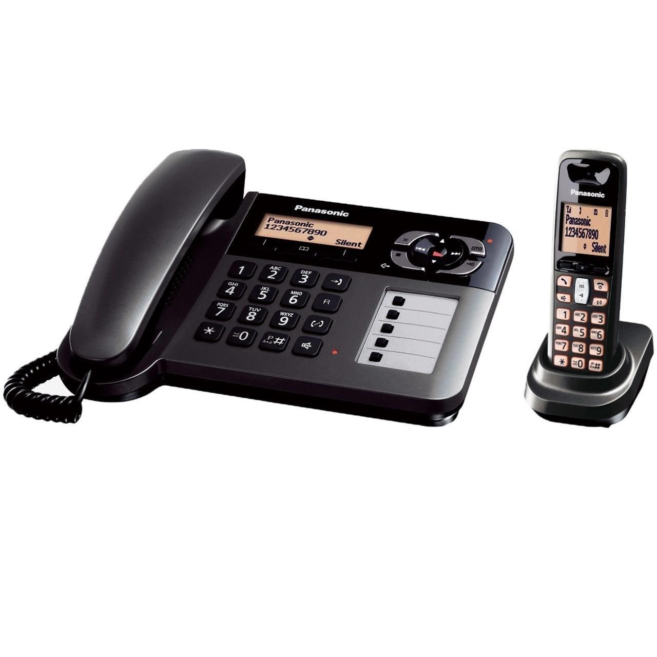 تصویر تلفن بی سیم پاناسونیک مدل KX-TGF120BX Panasonic Digital Cordless Phone - KX-TGF120BX