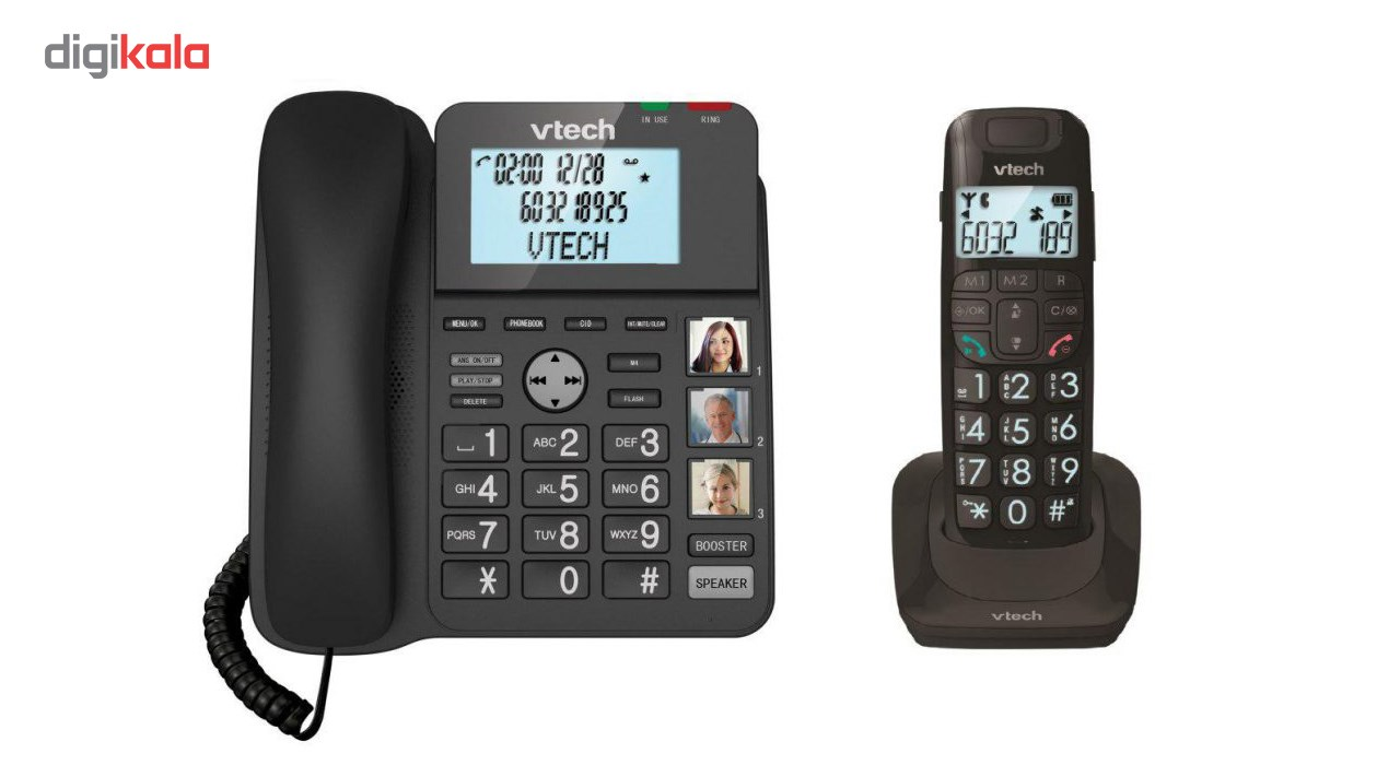 img گوشی تلفن بی سیم وی تک مدل LS1650 Vtech LS1650 Corded & Cordless Phone