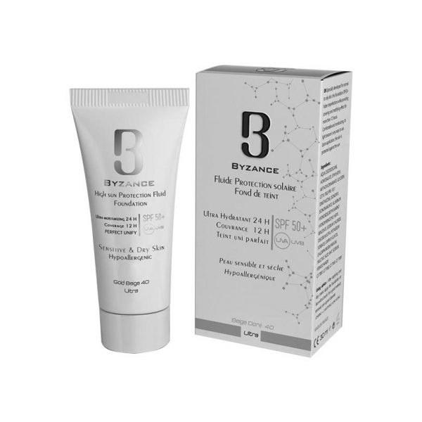 عکس ضد آفتاب کرم پودری +SPF50 پوست خشک و حساس بیزانس Byzance High sun protection cream foundation Sensitive & dry skin ضد-افتاب-کرم-پودری-+spf50-پوست-خشک-و-حساس-بیزانس