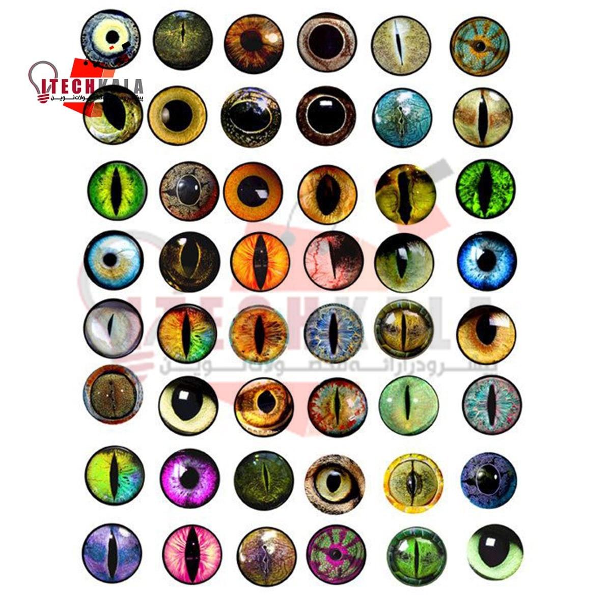 تصویر طلق ترنسپرنت رنگی (مدل چشم عروسک)