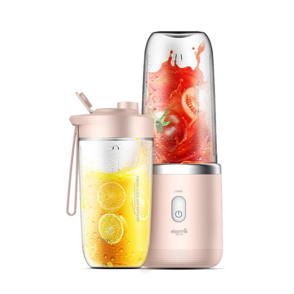 main images Xiaomi Deerma DEM-NU05 Mini Juice Blender Operating مخلوط کن همراه شیائومی DEM-NU05 مدل mini