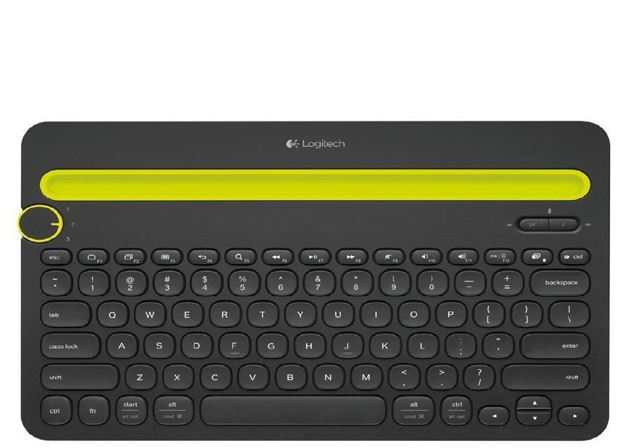 تصویر صفحه کلید چند منظوره Logitech Bluetooth K480 - Black - با رایانه های ویندوز و مک ، تبلت های اندرویدی و iOS و تلفن های هوشمند کار می کند Logitech Bluetooth Multi-Device Keyboard K480 – Black – works with Windows and Mac Computers, Android and iOS Tablets and Smartphones