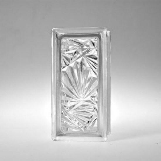 تصویر بلوک شیشه ای کاوه مدل نیمه گل یخ