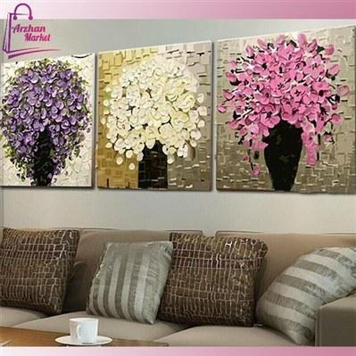 عکس تابلو نقاشی گل برجسته  تابلو-نقاشی-گل-برجسته
