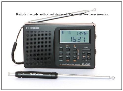 Tecsun PL-606 Digital PLL Portable AM/FM Shortwave Radio with DSP, Black |