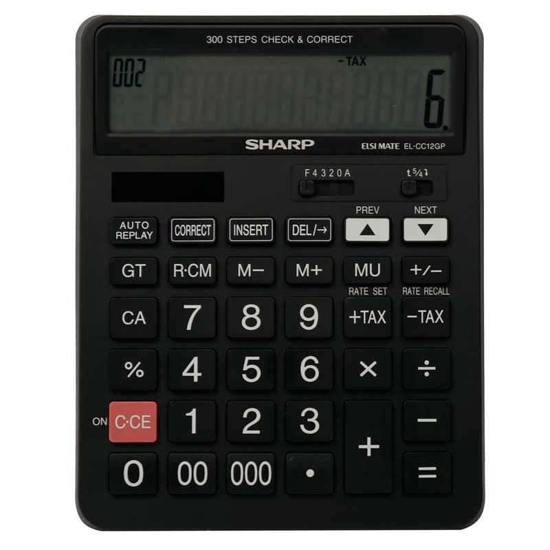 تصویر ماشین حساب شارپ SHARP EL-CC12GP SHARP EL-CC12GP Calculator