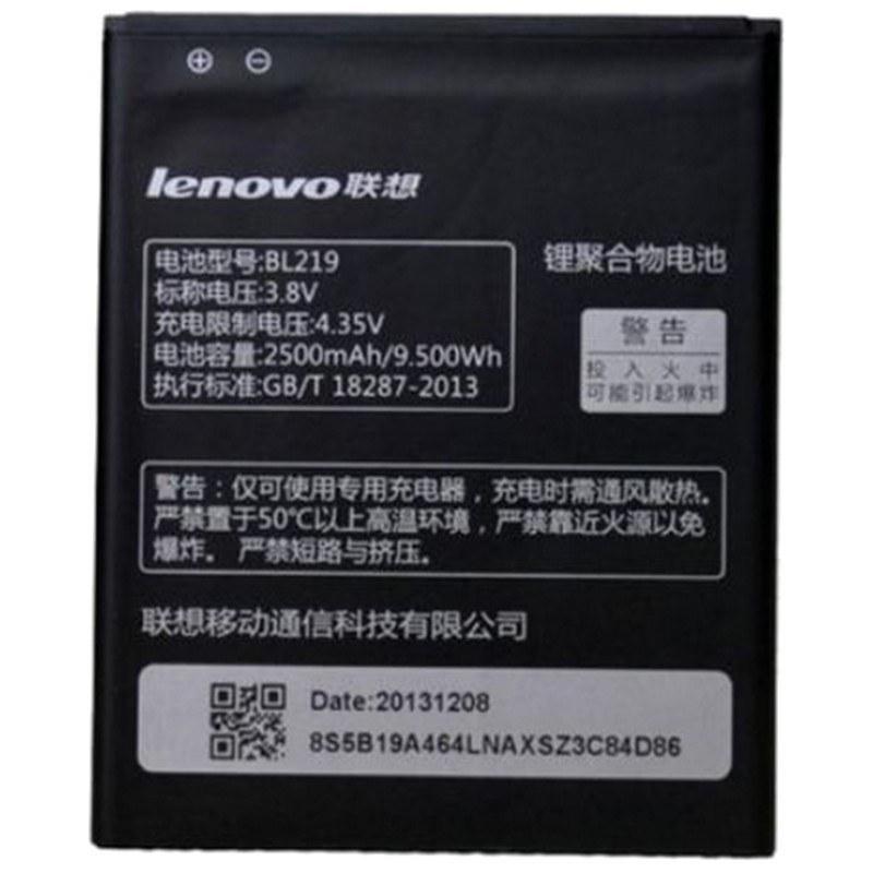 تصویر باتری اورجینال لنوو BL219 ظرفیت 2500 میلی آمپر ساعت Lenovo BL219 2500mAh Original Battery