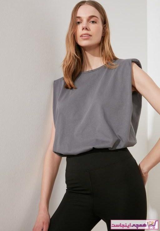 تصویر فروش تیشرت زنانه جدید مارک ترندیول میلا رنگ بژ کد ty36878384