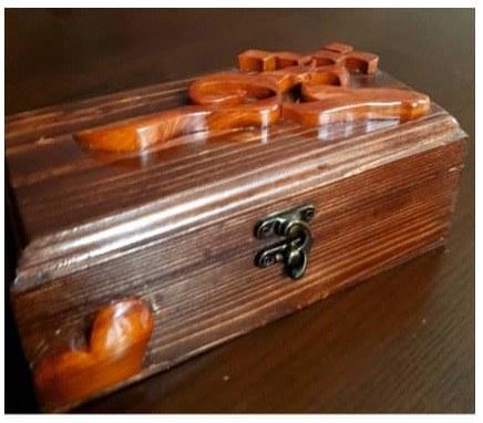 جعبه منبت و معرق تمام چوب کد ۰۲۱