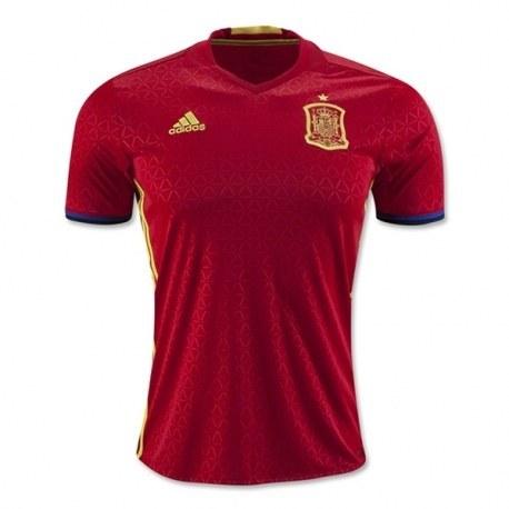 پیراهن اول تیم ملی اسپانیا ویژه یورو Spain Euro 2016 Home Soccer Jersey