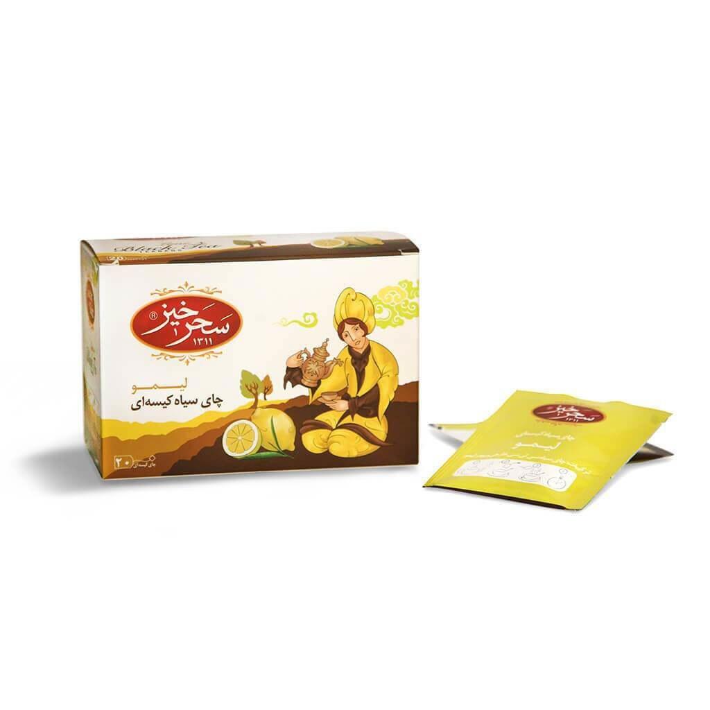 چای سیاه کیسه ای با طعم لیمو
