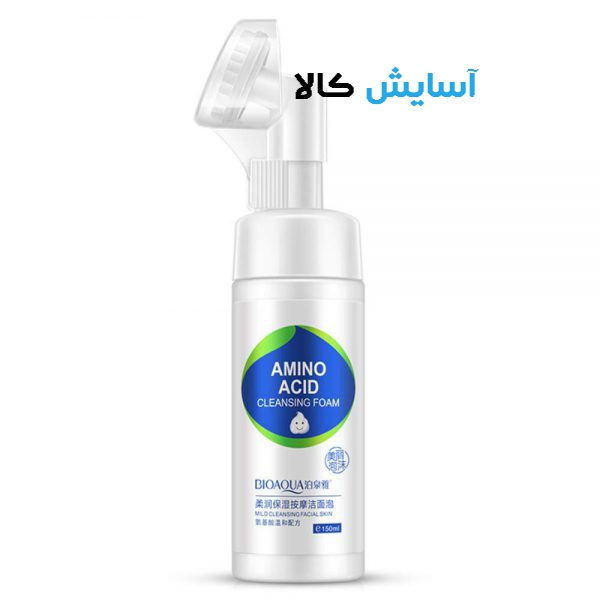 تصویر فوم شستشوی صورت مدل آمینو اسید 150میلبیوآکوا ا Bioaqua Facial Cleanser Foam Exfoliating Amino Acid Bioaqua Facial Cleanser Foam Exfoliating Amino Acid