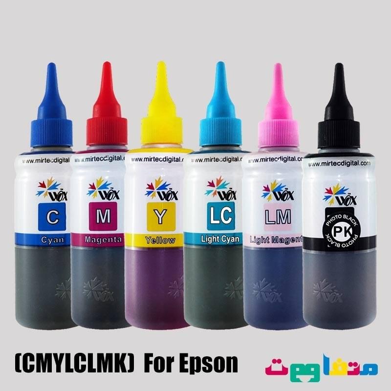 جوهر وکس 100 سی سی شش رنگ برای پرینتر اپسون