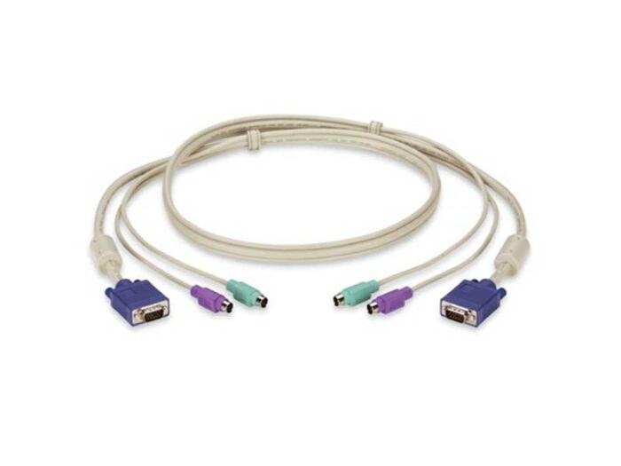 تصویر کابل ۱ متری کی وی ام  KVM cable 1m ps2
