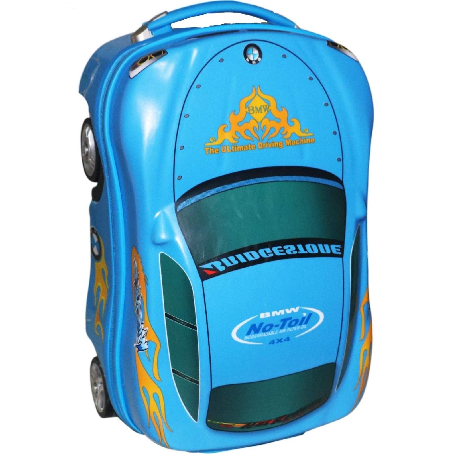 چمدان کودک مدل ماشینها(آبی)